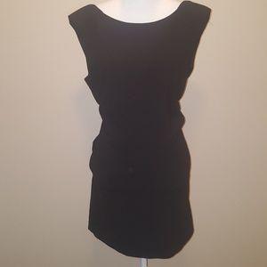 Zara basic size Large.  Black sleeveless dress